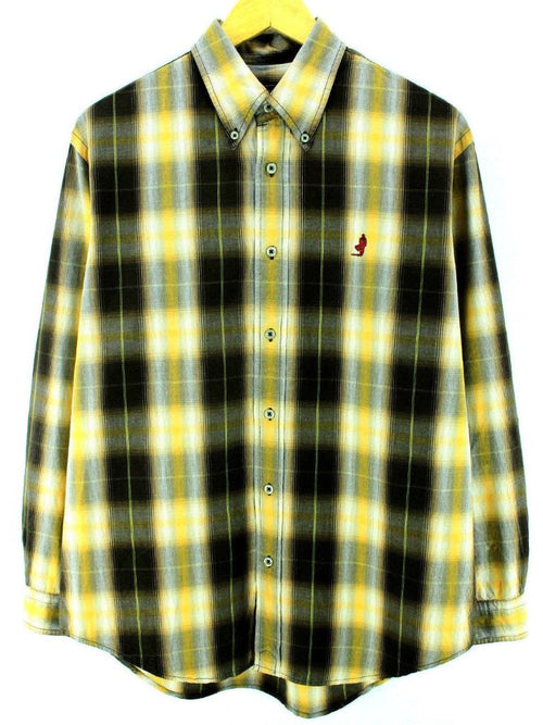 Marlboro Classics Men's Shirt Size M Multi Color Checkered Long Sleeve