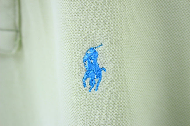 Ralph Lauren Mens Polo Shirt Size L Large Cotton Short Sleeve Green Top, Polo Shirt, Ralph Lauren, - Top-Garms