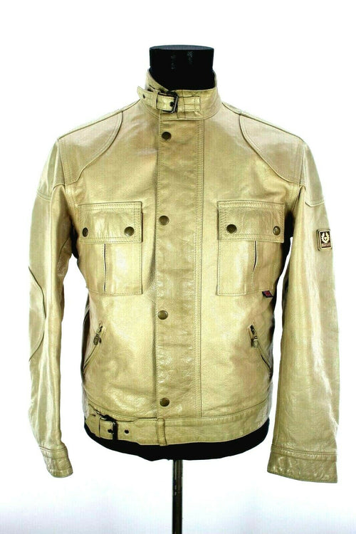 Superb Belstaff Leather Jacket Ivory Size S