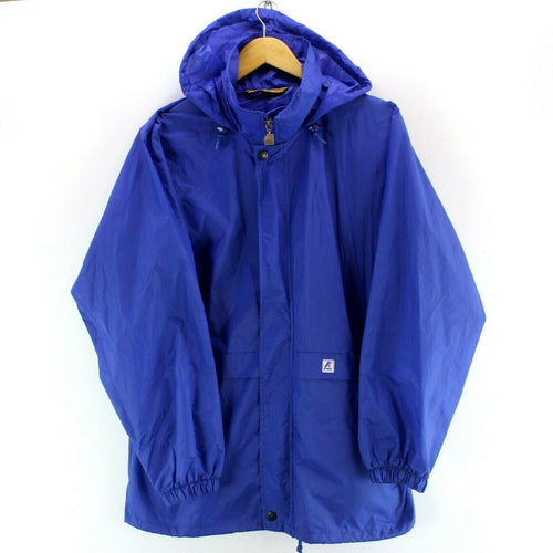 K.Way Men's Raincoat Jacket Blue Size M