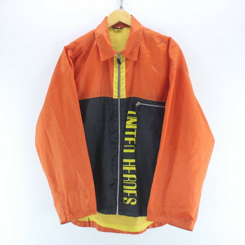 Vintage Men's Shell Jacket in Orange/Black Size L Long Sleeve Full Zip