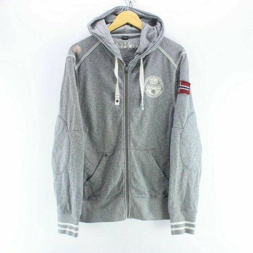 Napapijri Men's Sweatshirt in Grey Size L