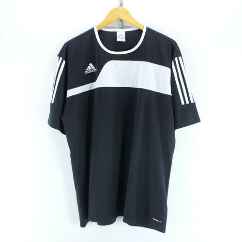 Vintage adidas Men's T-Shirt in Black Size XL Short Sleeve Polyester Tee