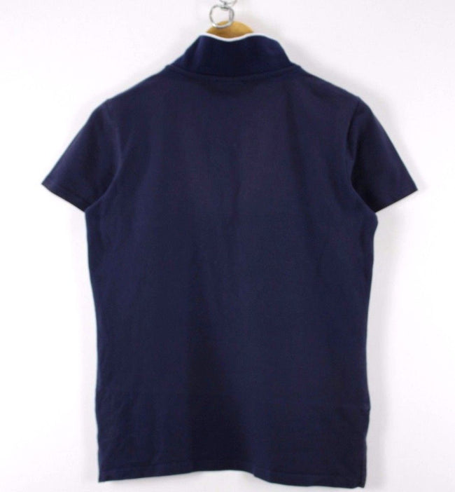 Ellesse Womens Polo Shirt, Size XL, Navy Blue, Short Sleeve, Cotton, Polo Shirt, Ellesse, - Top-Garms