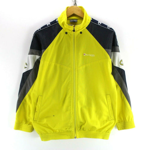 Vintage Champion Boys Track Jacket Size 13/44 Yrs in Yellow Full Zip