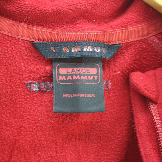 Mammut Women's Fleece Jacket in Red Size L