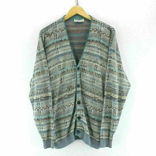Vintage Men's Cardigan Multicolour Size L