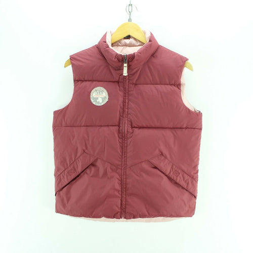 Womens Napapijri Bodywarmer in Cherry & Ivory Size 14 Down Jacket