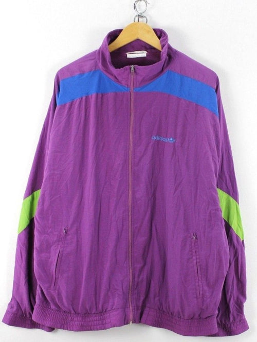 adidas Mens Retro Tracksuit TOP Size D7, L, Full Zip Running