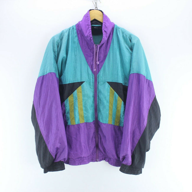 80's Vintage Men's Track Jacket Multi Size M Long Sleeve Shell Jacket, Tracksuit, Top-Garms, - Top-Garms
