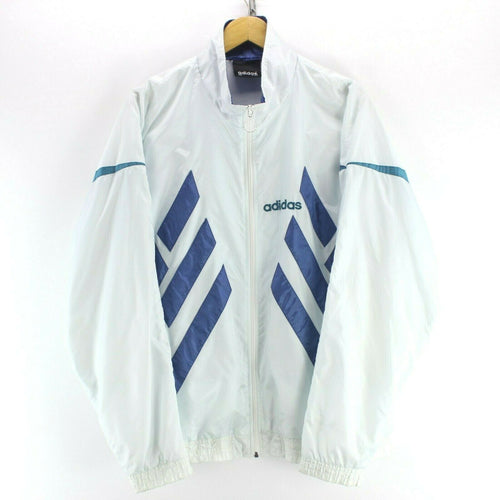 90's Vintage adidas Men's Track Jacket White Size 2XL Zipped Shell Jacket