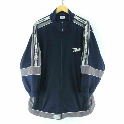 Reebok Men's Track Jacket Blue Size S BIG Oversize