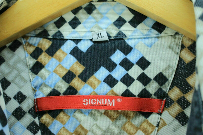 Vintage Abstract Signum Shirt Size XL