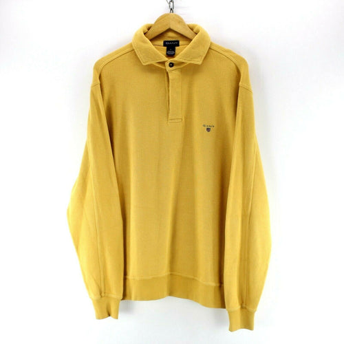 GANT Men's Sweater in Yellow Size L