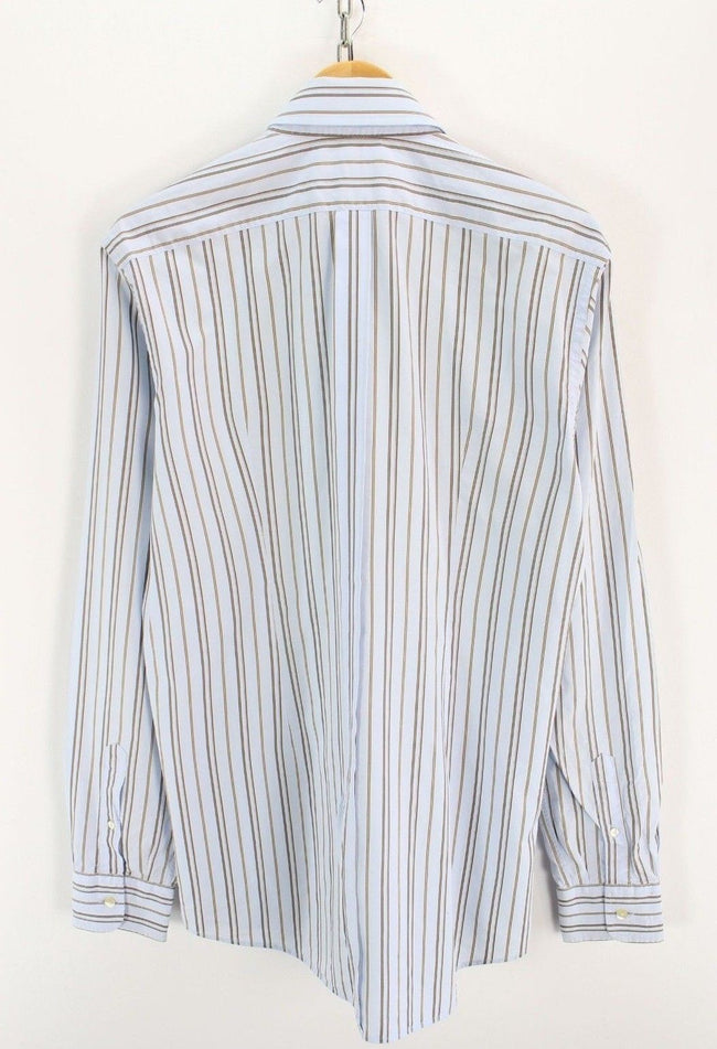 Dolce&Gabbana Mens Dress Formal Shirt Size 17 1/2 44 Stripped Long Sleeve, Formal Shirt, Dolce&Gabbana, - Top-Garms
