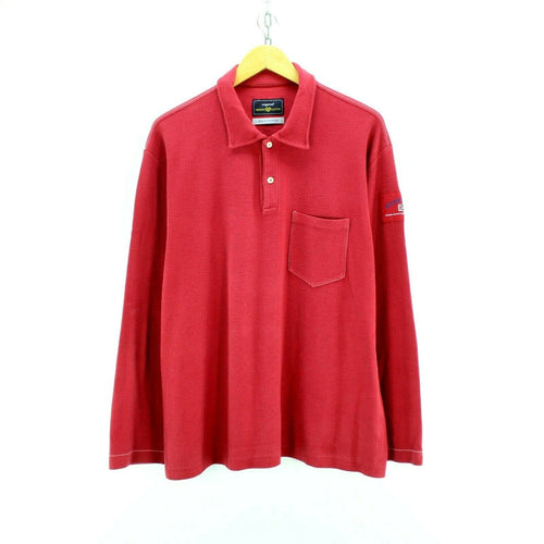 Henri Lloyd Men's Polo Shirt Red Size 2XL