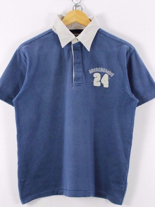 Abercrombie & Fitch Mens  Polo Shirt, Size M , Blue, Short Sleeve, Cotton