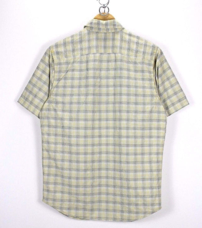 Columbia Titanium Mens Shirt, Size S Small, Casual Check TOP, Short Sleeve, Shirt, Columbia, - Top-Garms
