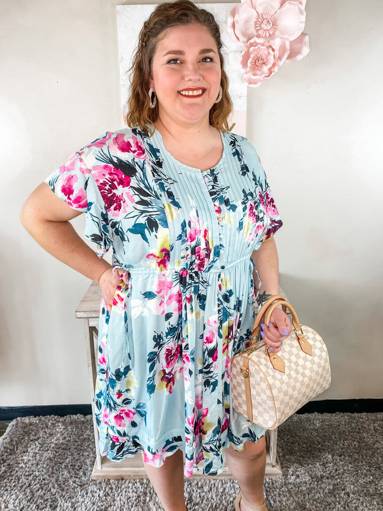 Curvy Icy Floral Dress