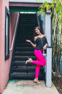 The latest and the greatest, High Waisted Semi Compression Leggings = The difference.