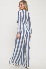 Sail Away Tie-Front Stripe Jumpsuit