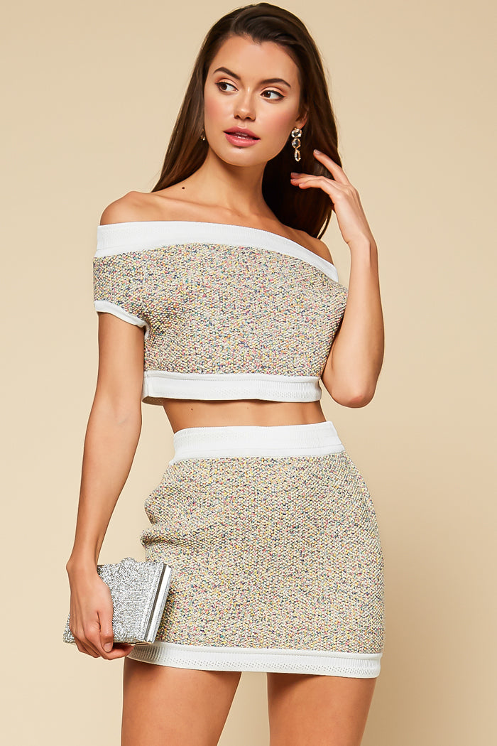 Confetti Knit Skirt Set - Geegeebae