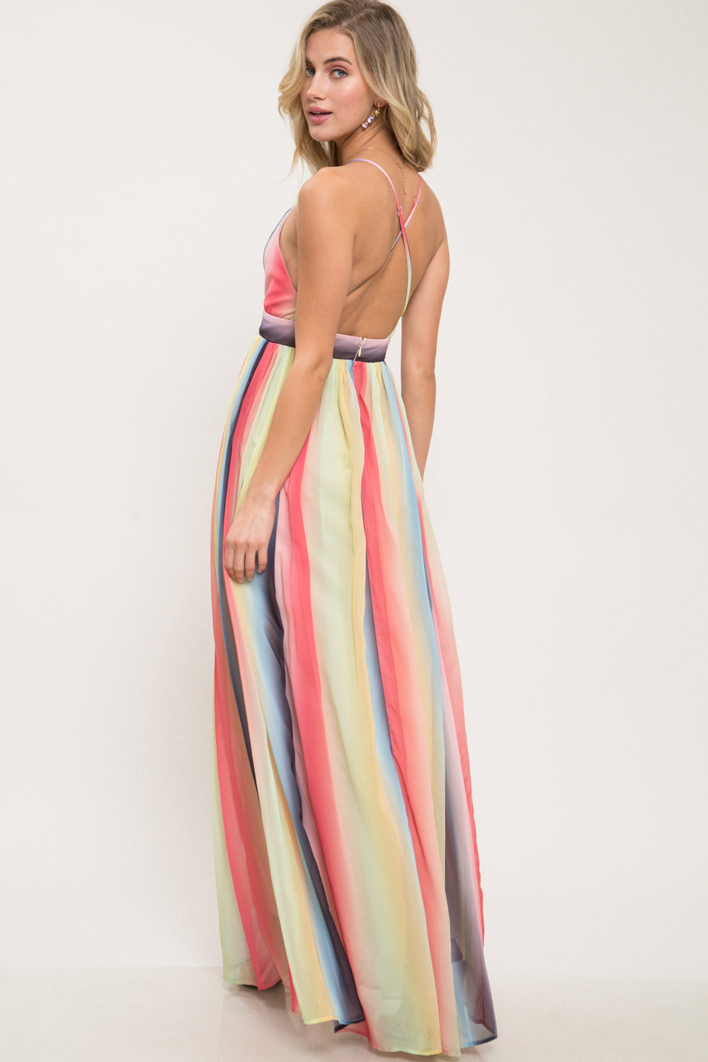 Wake Up In The Sky Ombre Maxi Dress