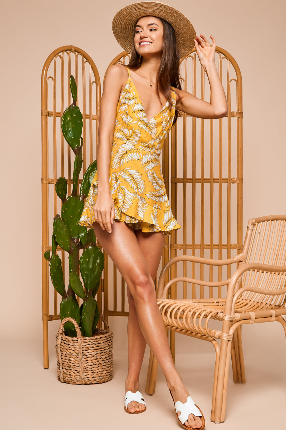 Valley Girl Tropical Mini Dress