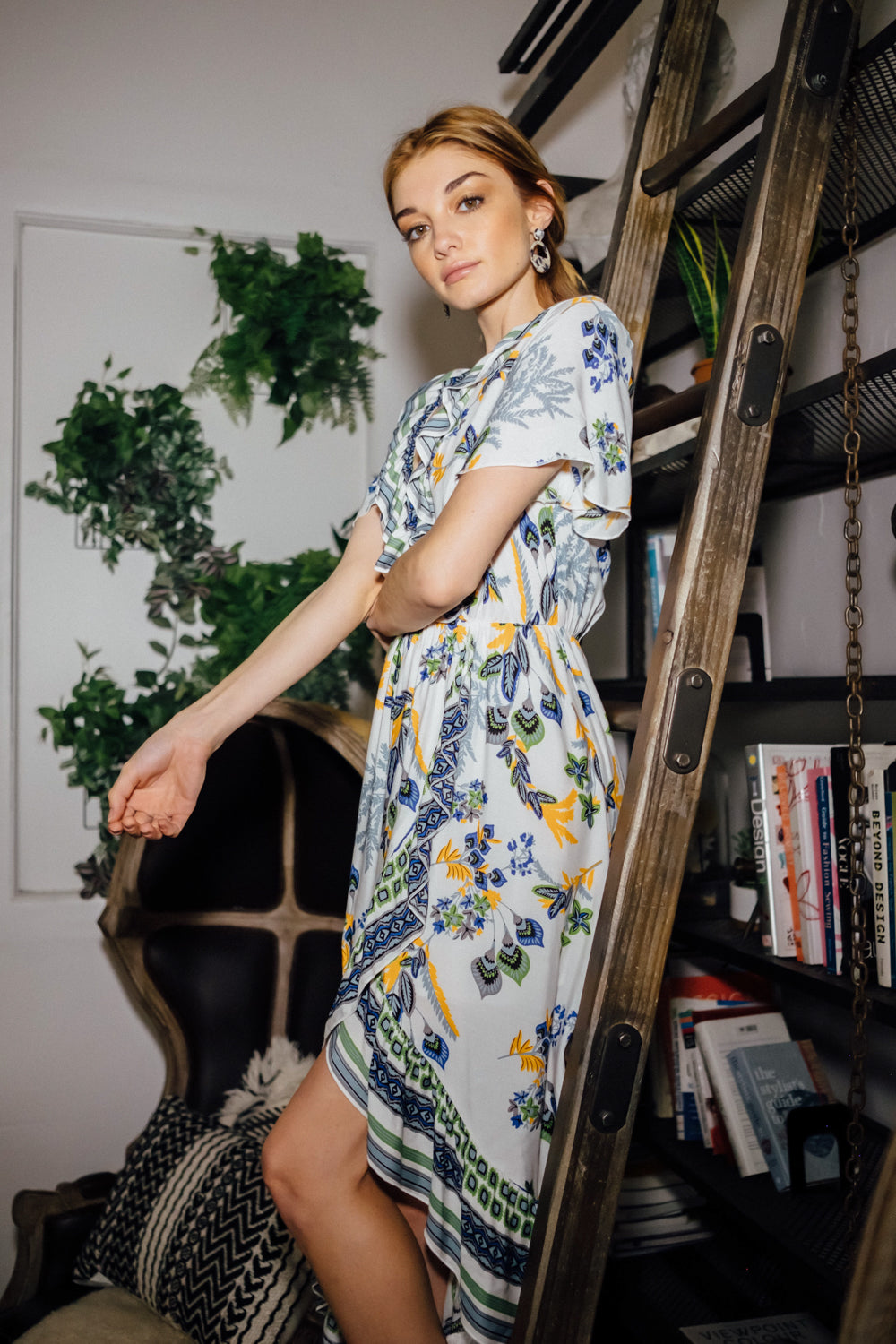 Mesmerized Floral High-Low Dress - Geegeebae