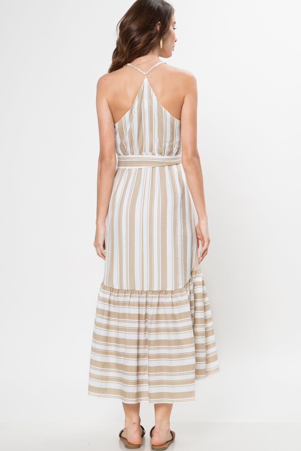 Summer Picnic Stripe Midi Dress