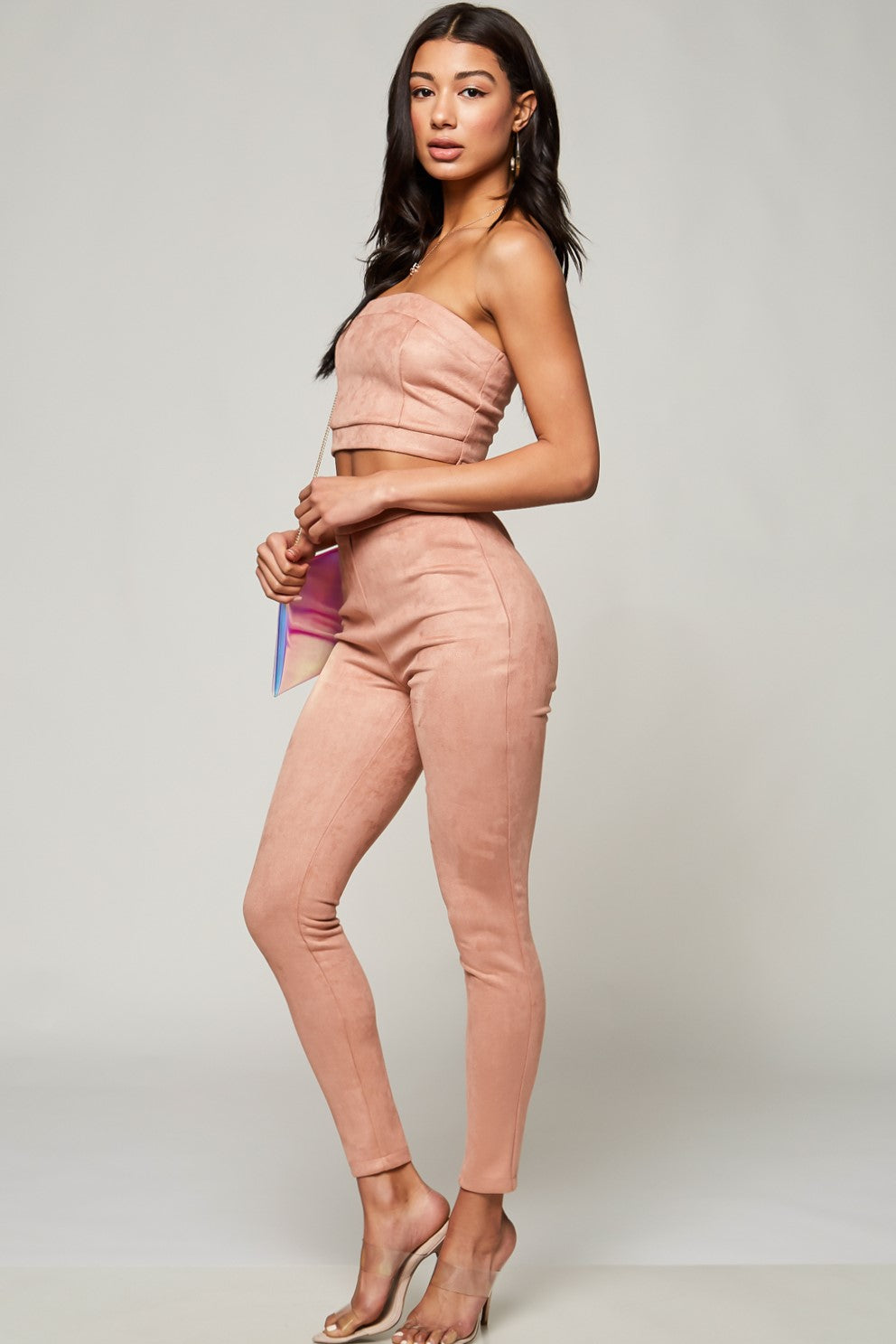 Mercy Faux Suede Pants Set - Geegeebae