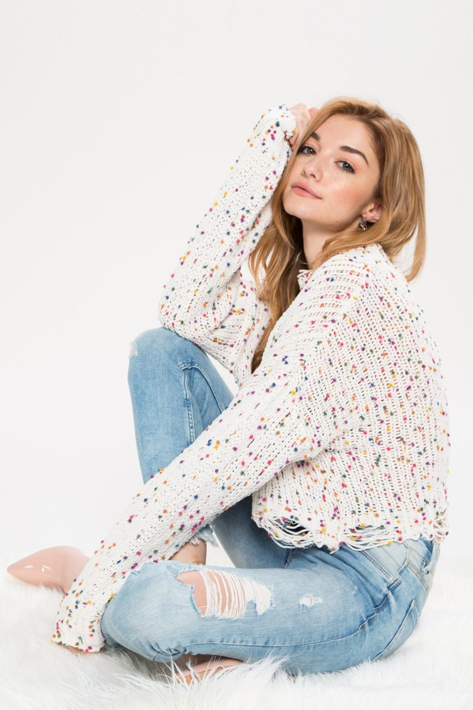 Birthday Cake Crop Sweater - Geegeebae