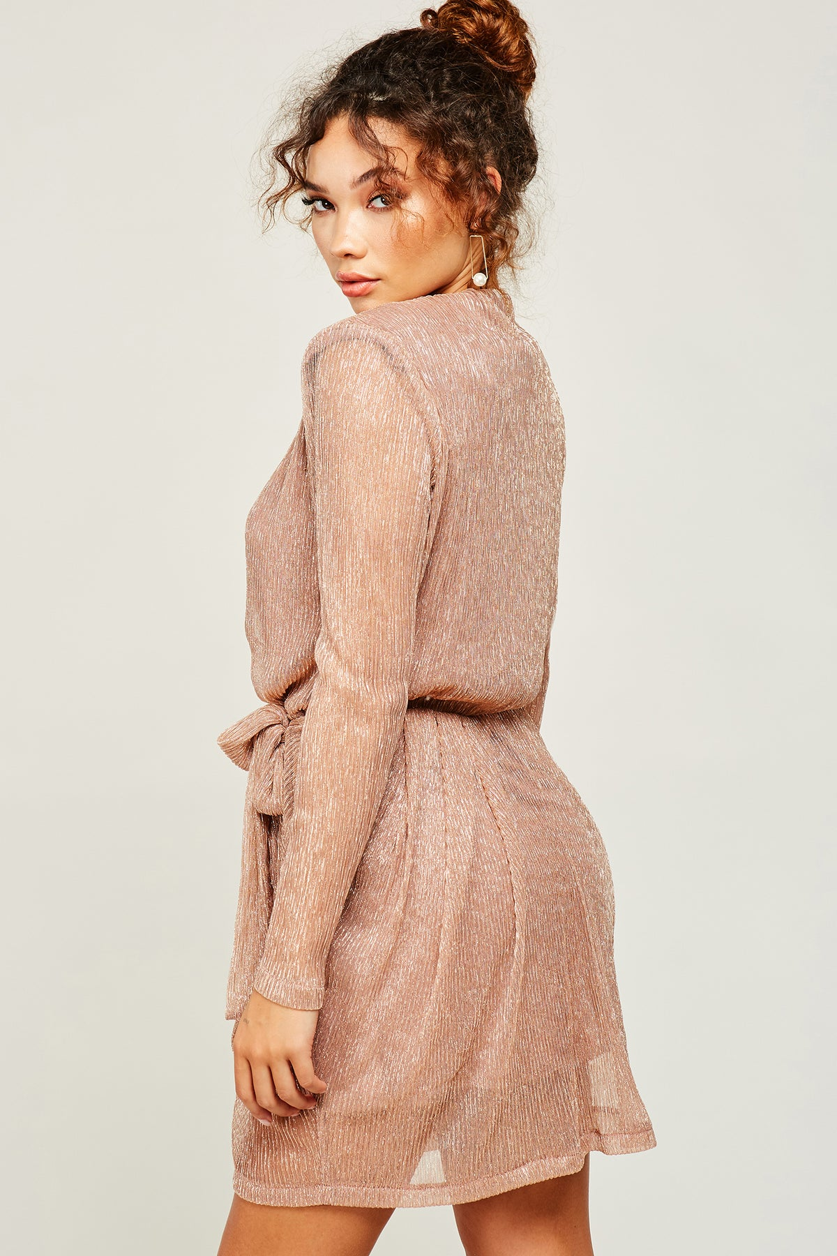 Bottega Rose Gold Mini Dress