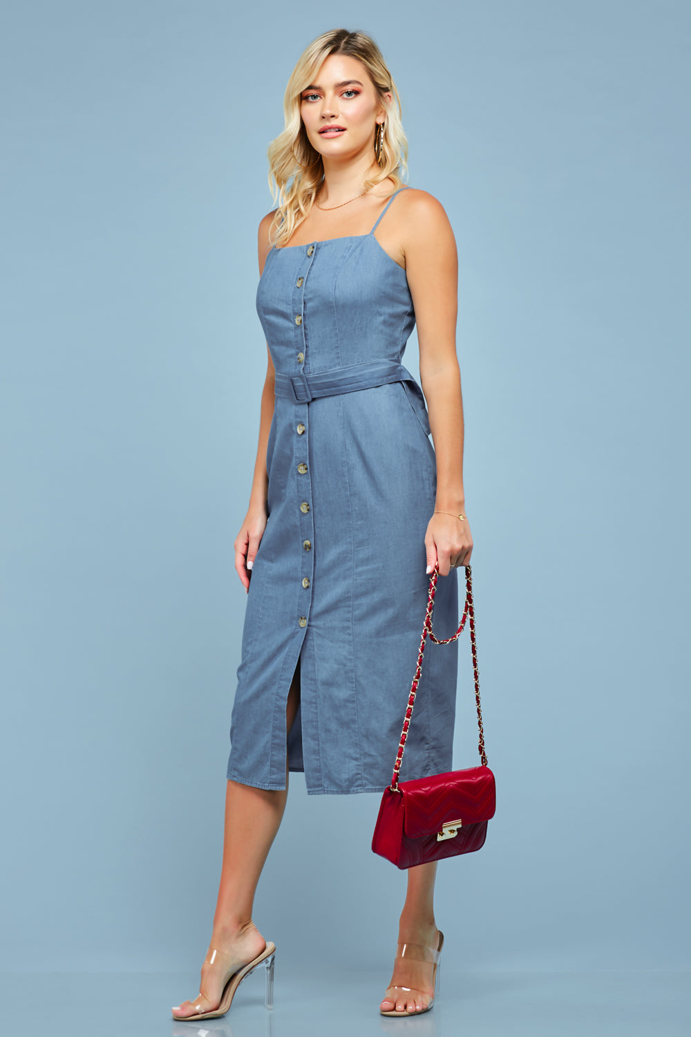Donna Midi Denim Dress - Geegeebae