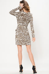 Leopard Mini Bodycon Dress - Geegeebae
