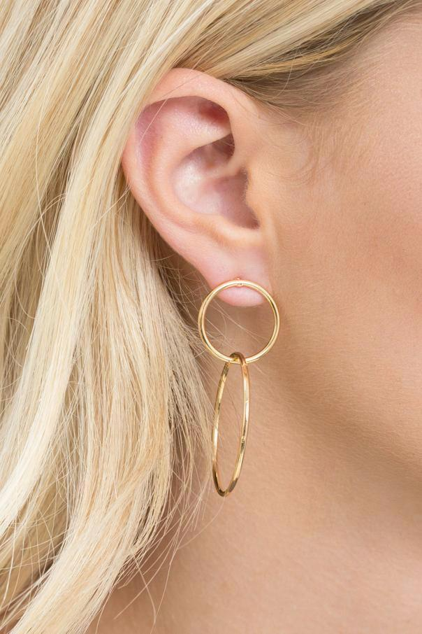 Gold Interlock Hoop Earrings - Geegeebae