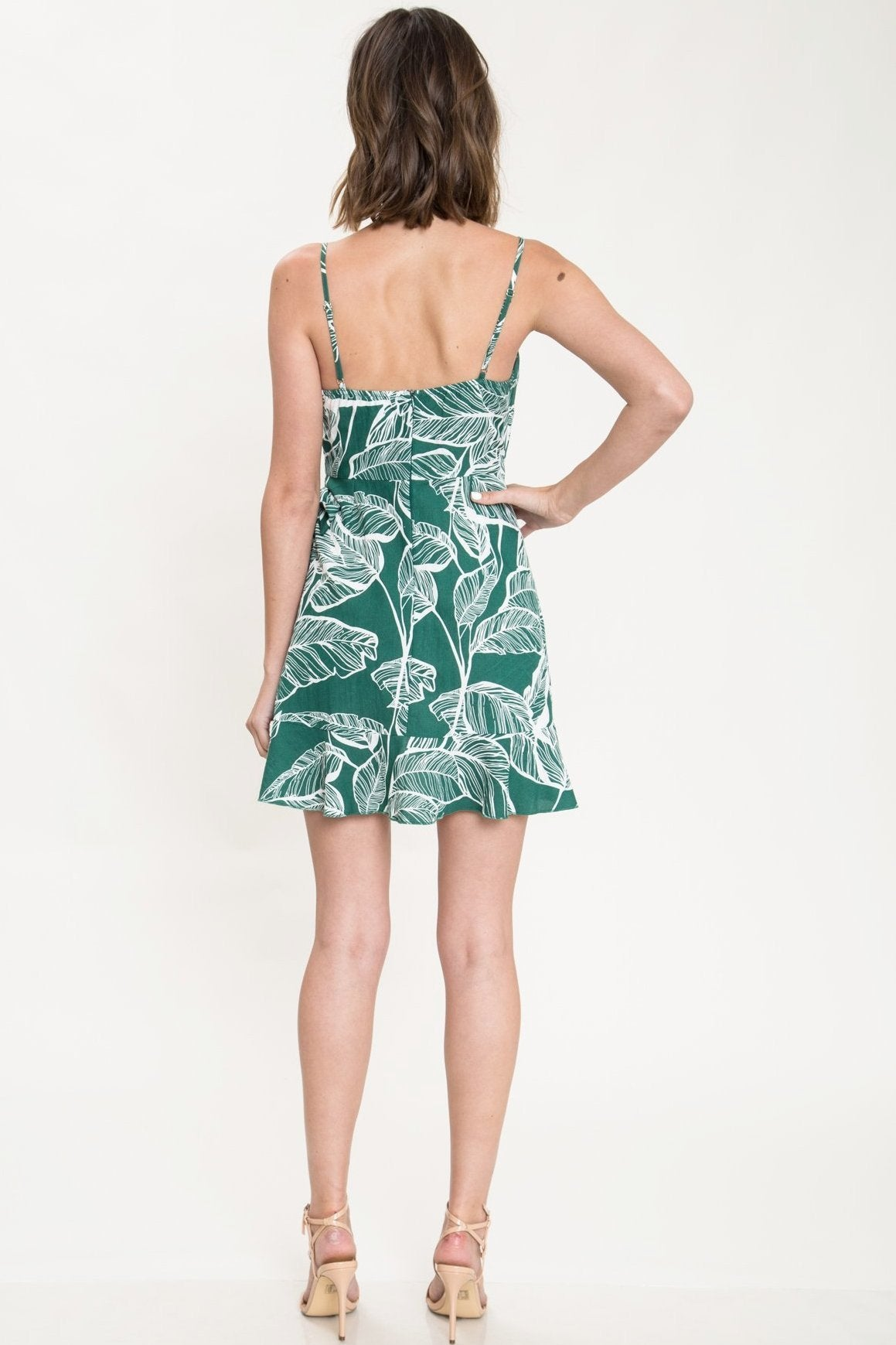Delilah Tropical Linen Mini Dress - Geegeebae