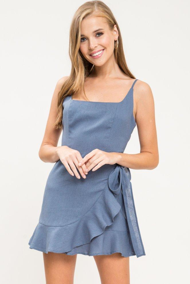Let It Sing Linen Mini Dress - Geegeebae