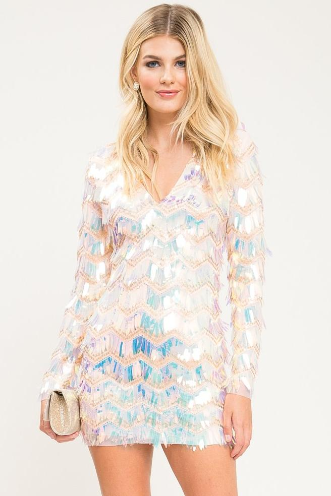 The Mermaid Sequin Mini Dress - Geegeebae