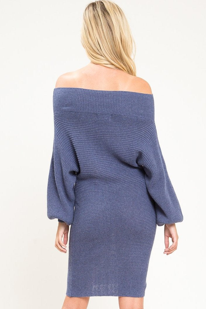 Batwing Sweater Dress - Geegeebae