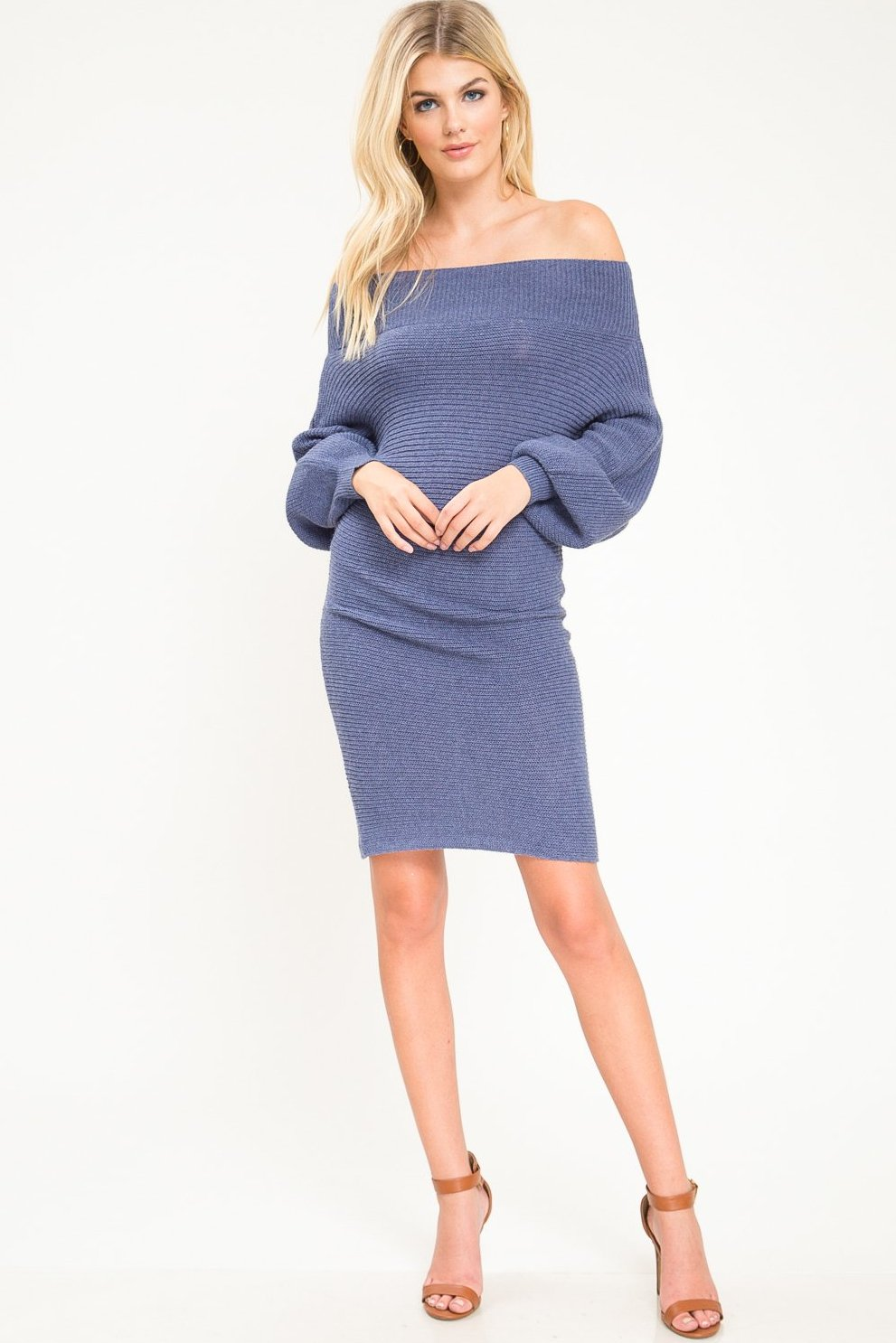 Marjorie Batwing Sweater Dress - Geegeebae