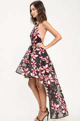 Eve Floral High-Low Dress - Geegeebae