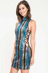 Gabi Cutout Sequin Mini Dress - Geegeebae