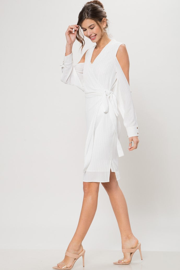 Good Girl Faux-Wrap Dress - Geegeebae