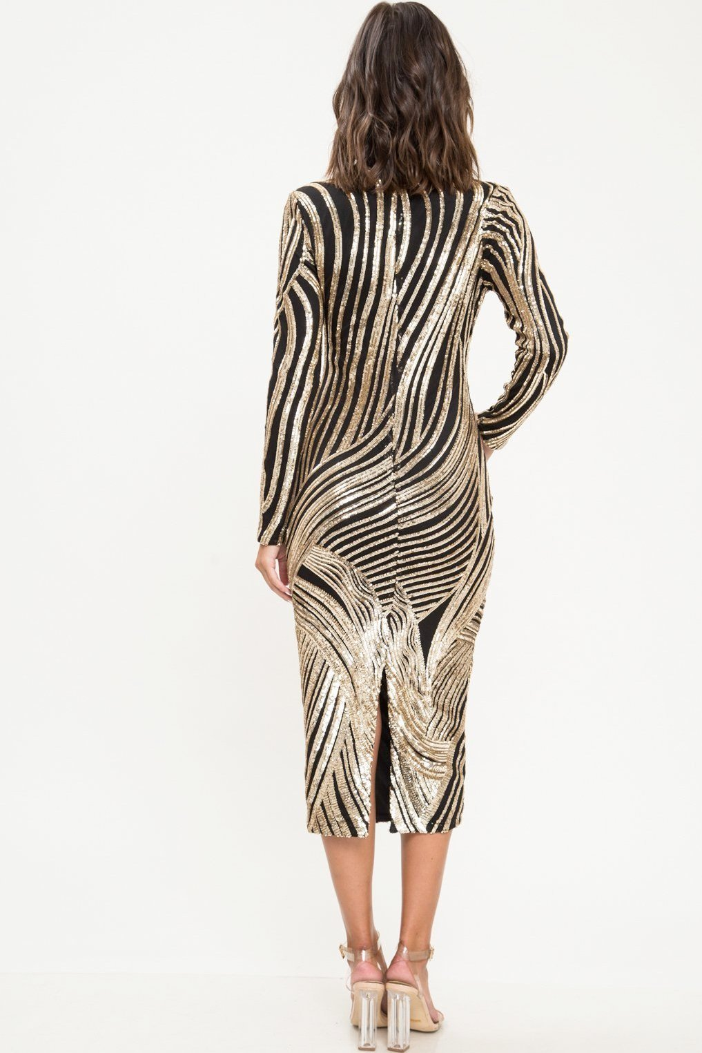 Reese Sequin Midi Dress - Geegeebae