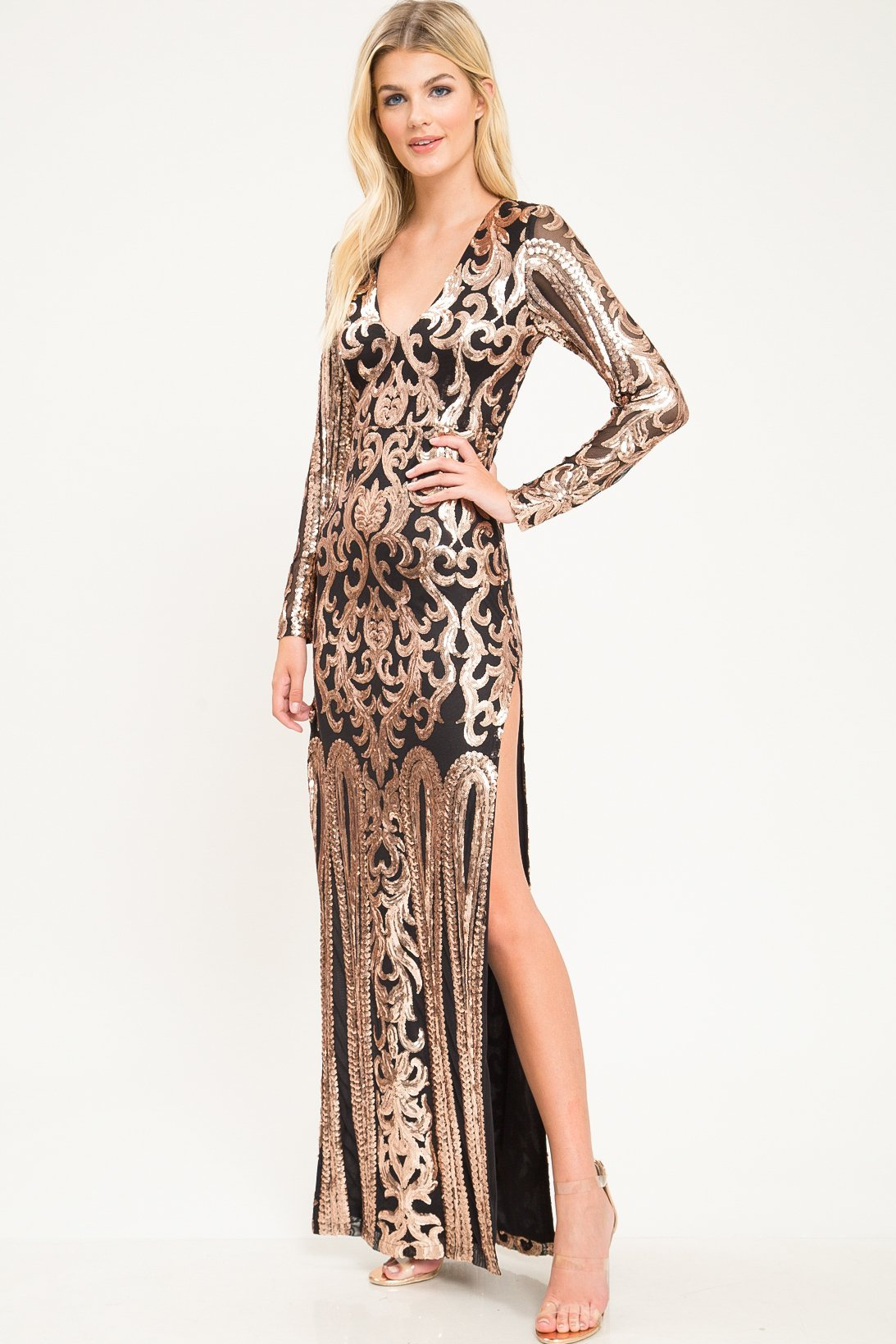 Manhattan Sequin Gown - Geegeebae