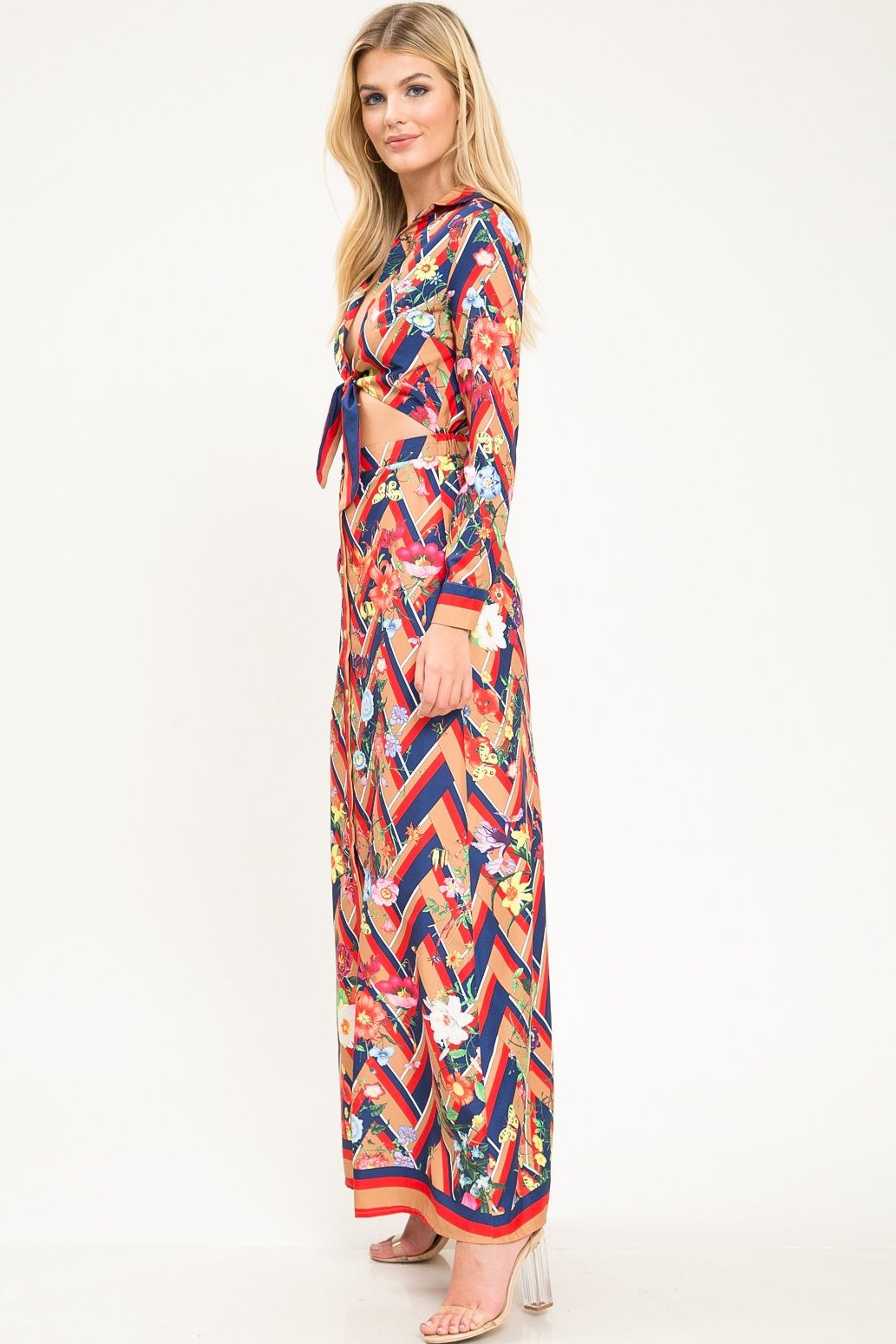 Dolly Cutout Floral Maxi Dress - Geegeebae
