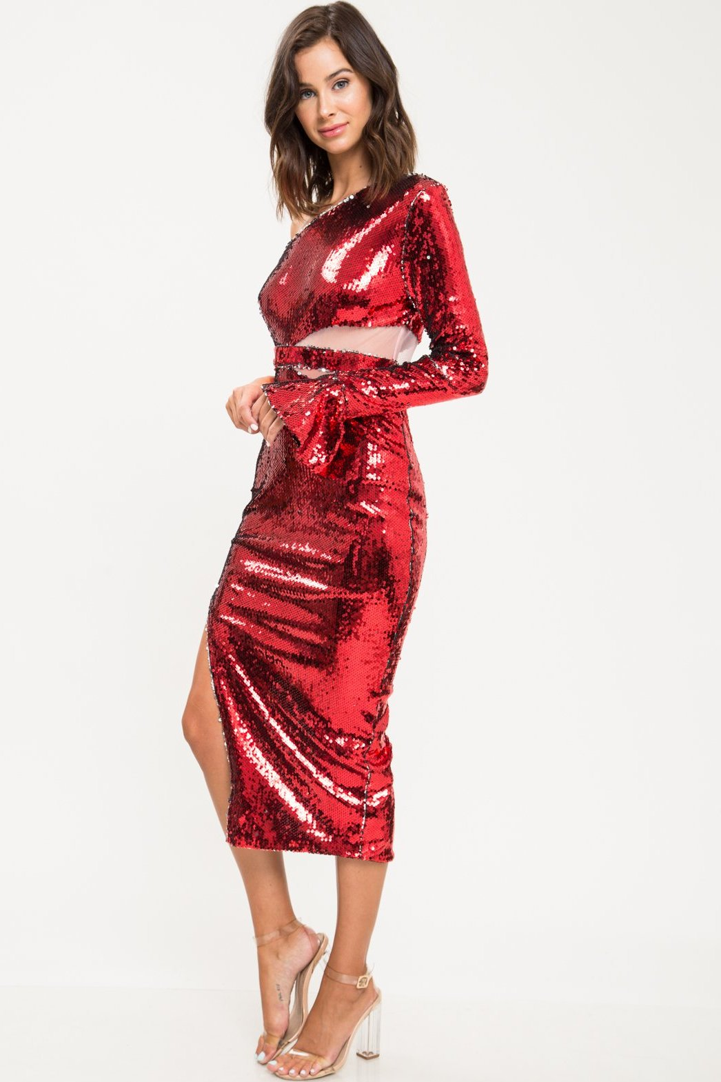 Mezcal Sequin Midi Dress - Geegeebae
