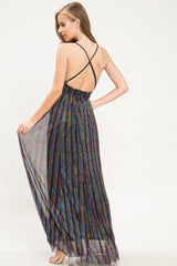 Only One Metallic Stripe Maxi Dress - Geegeebae