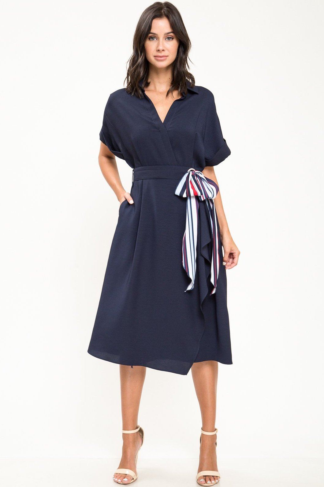 Marilyn Bow Midi Dress - Geegeebae